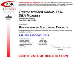 Moxness - Certificates